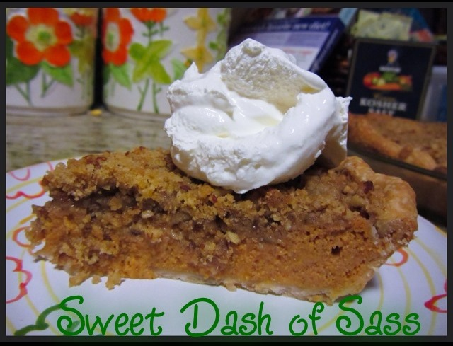 Brown Sugar Streusel-Topped Pumpkin Pie  www.SweetDashofSass.com