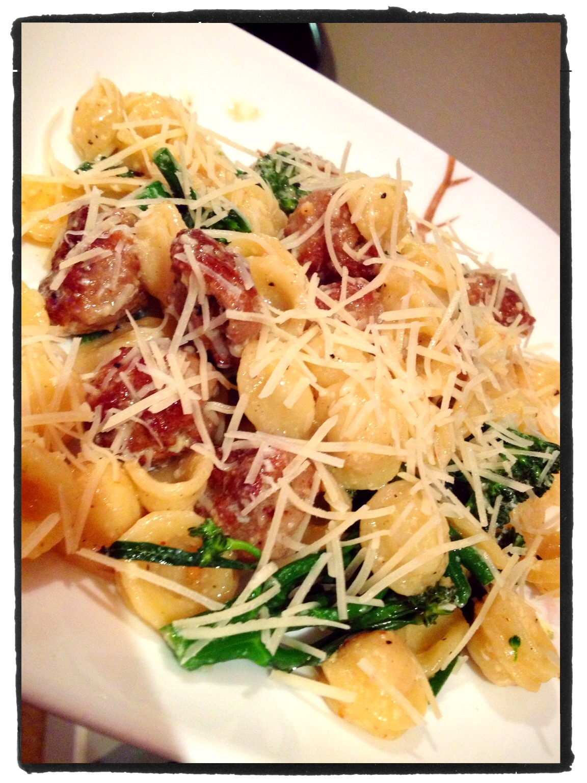 Orecchiette Pasta with Turkey Sausage & Broccolini  www.SweetDashofSass.com
