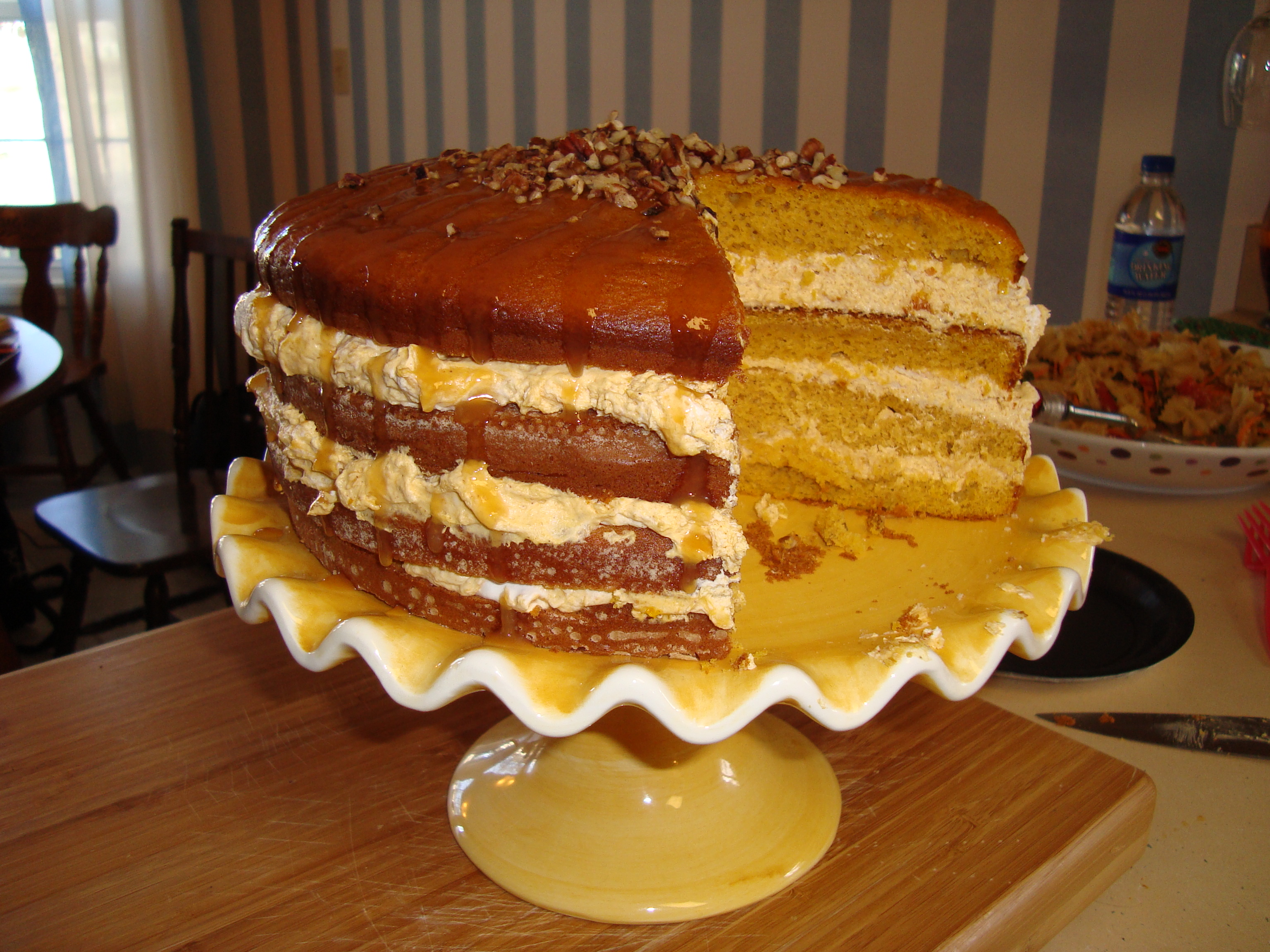 Four Layer Pumpkin Cake   www.SweetDashofSass.com