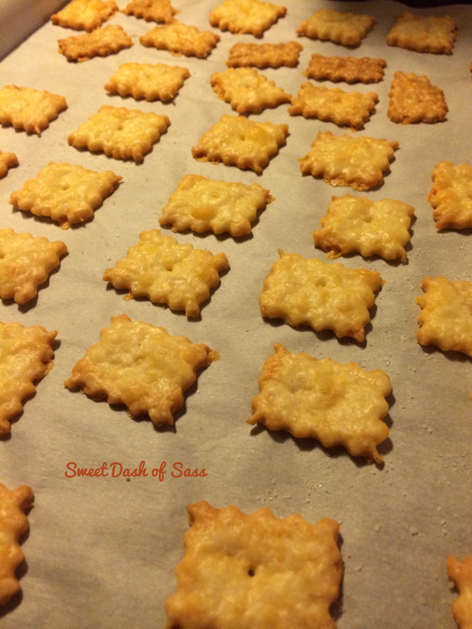 Homemade Cheese Crackers - www.SweetDashofSass.com For this recipe and ...