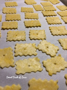Homemade Cheese Crackers - www.SweetDashofSass.com  Check out and 'LIKE' Sweet Dash of Sass on Facebook and follow @SweetDashofSass on Instagram for this recipe and many others.