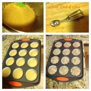 Pumpkin-Banana Streusel Muffins Steps - www.SweetDashofSass.com