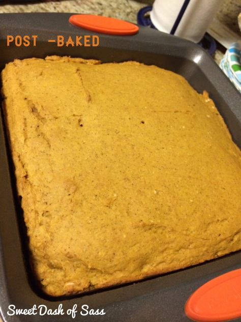 Pumpkin Poke  Cake - www.SweetDashofSass.com -- 'LIKE' Sweet Dash of Sass on Facebook to  Check out this recipe and many more!