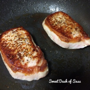 Apple & Onion Pork Chops - www.SweetDashofSass.com Check out and 'LIKE' Sweet Dash of Sass on Facebook for this recipe and many more!
