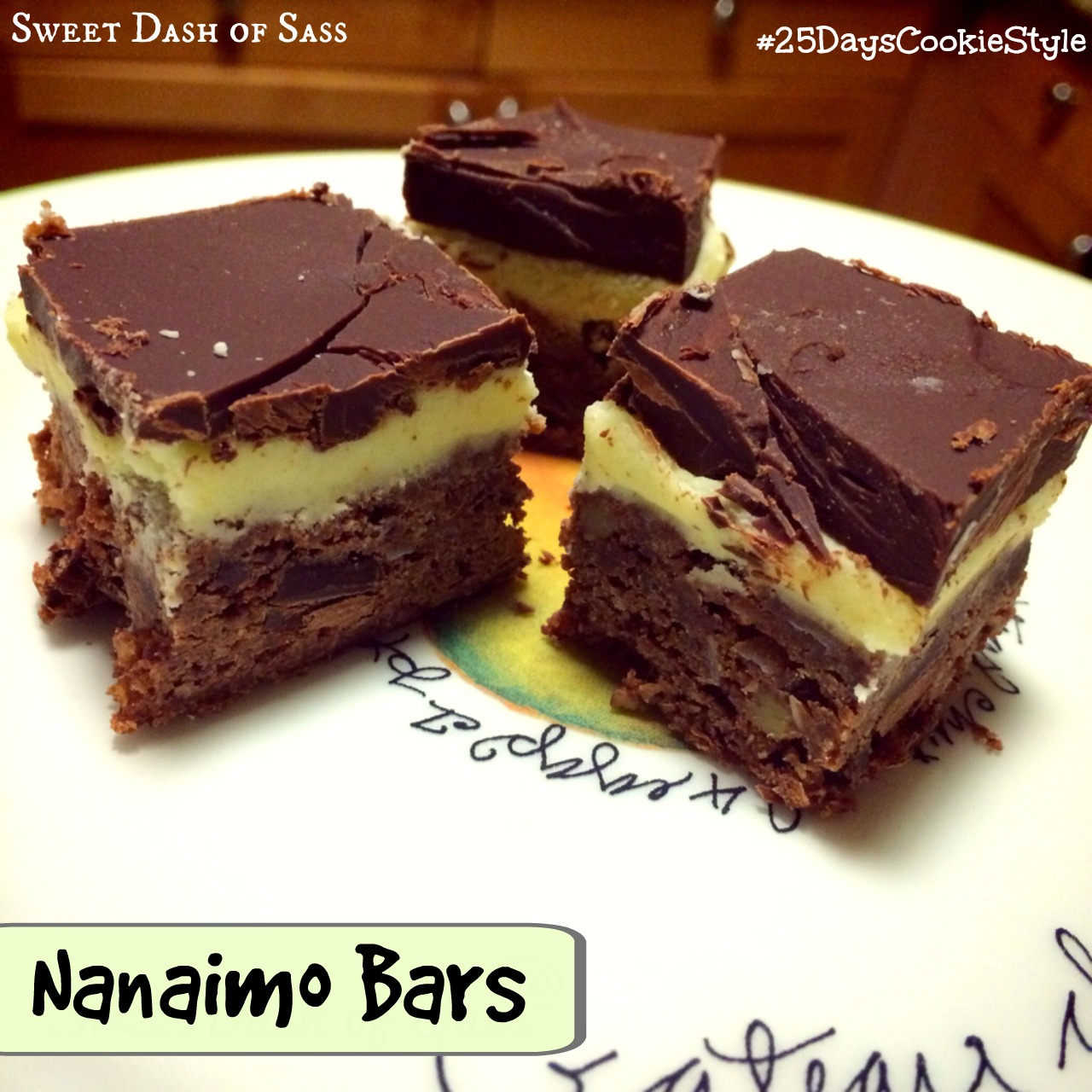 Nanaimo Bars - A Canadian Favorite!  #25DaysCookieStyle www.SweetDashofSass.com