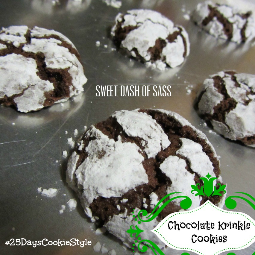 Chocolate Krinkle Cookies - perfect for the holiday season.  So easy.  www.SweetDashofSass.com