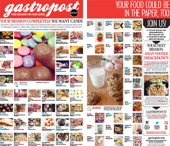 The Vancouver Sun - Gastropost Nov 8th Issue - We Want Candy