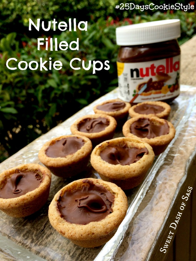 Nutella Filled Cookie Cups