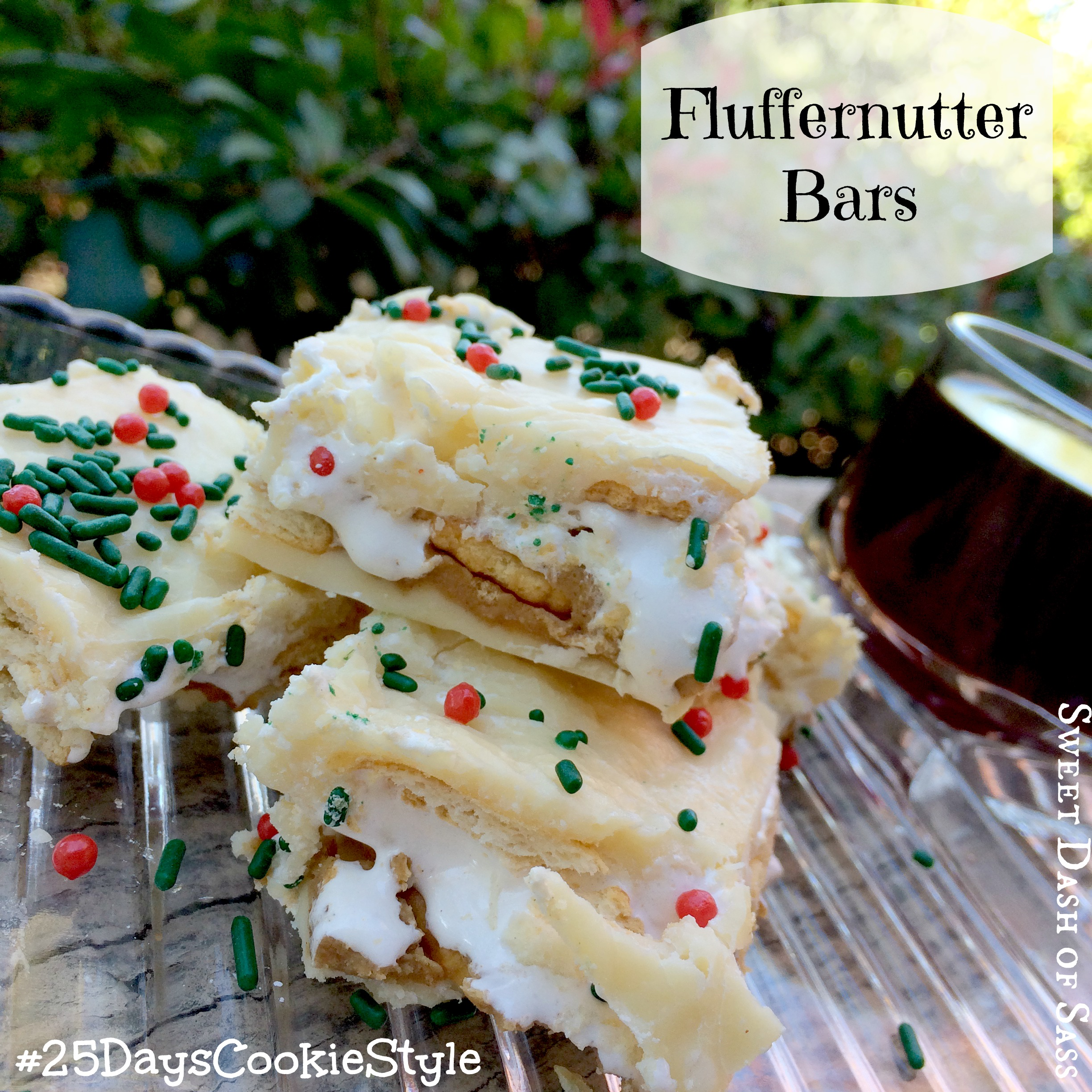 Fluffernutter Bars #25DaysCookieStyle www.SweetDashofSass.com -- ONLY 5 ingredients!!
