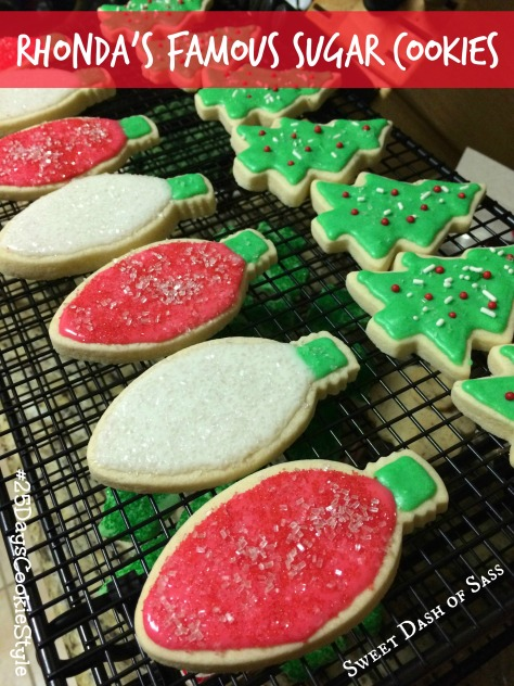 Rhonda's Famous Sugar Cookies - seriously the best Sugar Cookie recipe!  #25DaysCookieStyle www.SweetDashofSass.com