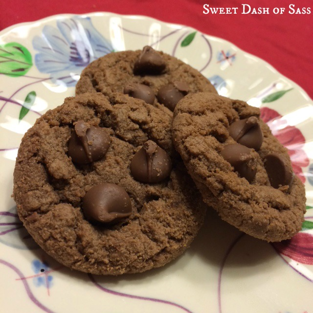 Speculoos Cookie Butter & Cocoa Cookies - www.SweetDashofSass.com #25DaysCookieStyle -- Using the jar from trader joes!