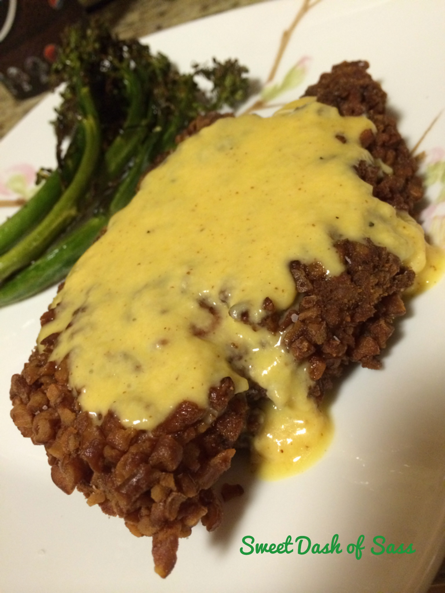 #4 - Pretzel Crusted Chicken with a Cheesy Mustard Sauce - www.SweetDashofSass.com