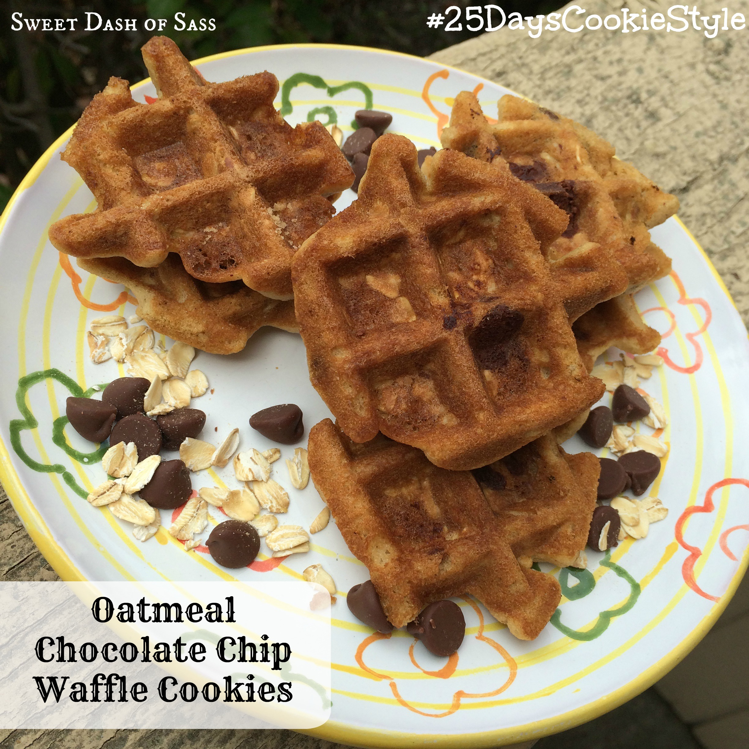 Oatmeal-Chocolate Chip Waffle Cookies Recipe — Dishmaps